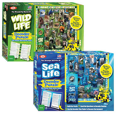 Wildlife/Sealife Decoder Puzzle Combo Pack