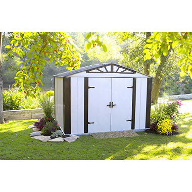 Designer series steel storage shed 10 39 x 8 39 sam 39 s club for Gartengestaltung gartenhaus