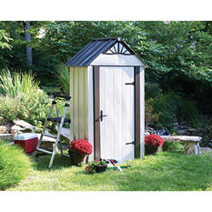 Designer Series Metro Backyard Steel Storage Shed 4' x 2'