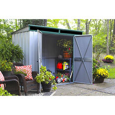 EuroLite Steel Lean Too Storage Shed 10' x 4'