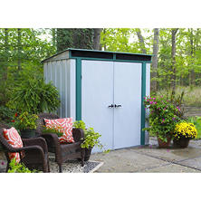 6' x 4' EuroLite Steel Lean-To Storage Shed