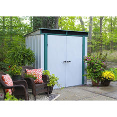 EuroLite Steel Lean Too Storage Shed 6' x 4'
