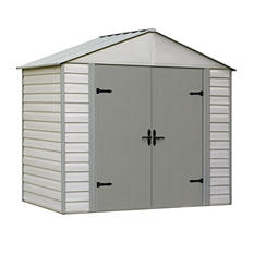Viking Series Vinyl-Coated Steel Storage Shed 8' x 5'