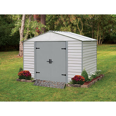 10 X 7 Viking Series Vinyl Coated Steel Storage Shed