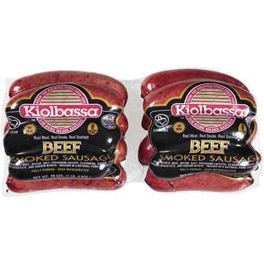 Kiolbassa™ Beef Smoked Sausage  20 oz. - 2 pks.