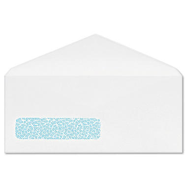 Columbian - Poly-Klear Business Window Envelopes, Securtiy Tint, #10, White - 500/Box
