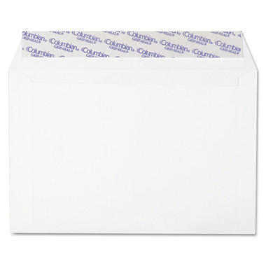 Columbian - Grip-Seal Booklet/Document Envelope, 6 x 9, White - 250/Box