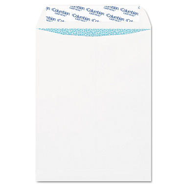 Columbian - Grip-Seal Security Tinted Catalog Envelopes, 9 x 12, 28lb, White Wove - 100/Box