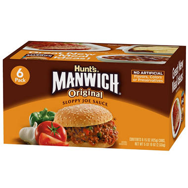 Manwich Sloppy Joe Mix - 6 pk. - 15 oz. cans