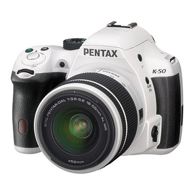 Pentax K50 16MP CMOS Waterproof DSLR with 18-55mm WR Lens - Various Colors