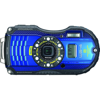 Pentax WG4 GPS 16MP Waterproof Camera with 4x Optical Zoom - Various Colors