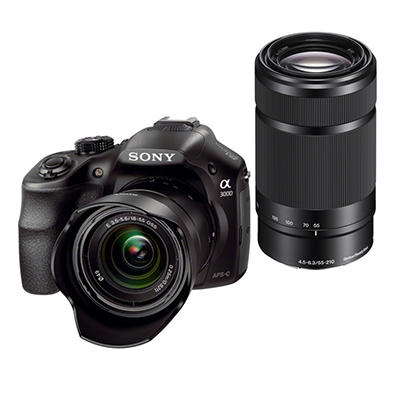 Sony Alpha a3000 20.1MP Compact Digital Camera Bundle with 18-55mm and 55-210mm Lenses