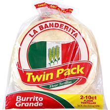 "La Banderita 10"" Burrito Flour Tortillas Twin Pack (20 ct.)"