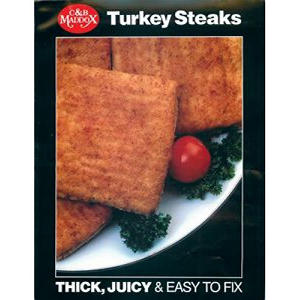 C & B Maddox White Meat Turkey Steaks (3.45 lbs.)