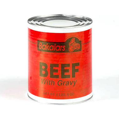 Bakalars Beef w/ Gravy - 6 lbs. 8 oz.