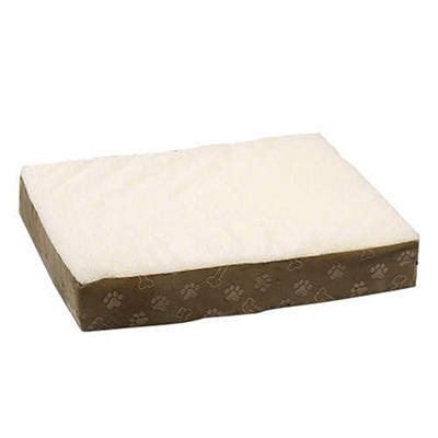 Double Orthopedic Foam Pet Bed, Tan (Large)