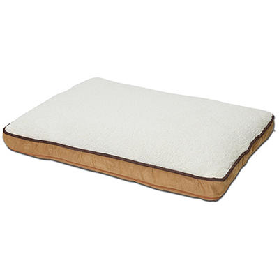 "Canine Cushions Memory Foam Double Orthopedic Pet Bed - 30"" x 40"" - Tan Suede"