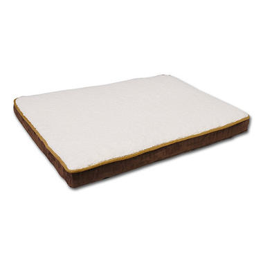 Canine Cushions Memory Foam Double Orthopedic Pet Bed - Brown Suede - 30