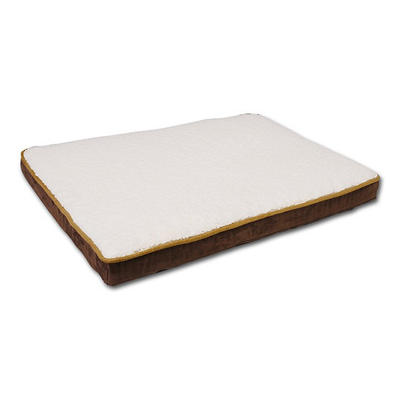 "Canine Cushions Memory Foam Double Orthopedic Pet Bed - Brown Suede - 30"" x 40"""