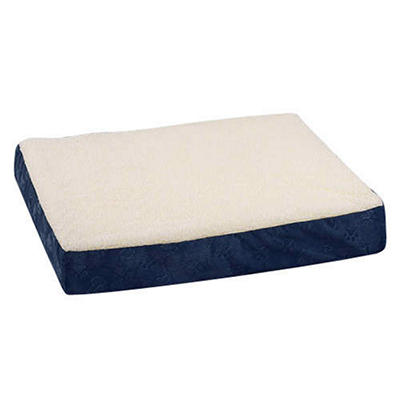 Double Orthopedic Foam Pet Bed, Navy (Large)