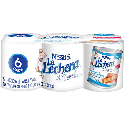 La Lechera Sweetened Condensed Milk - 14 oz. cans - 6 pk.