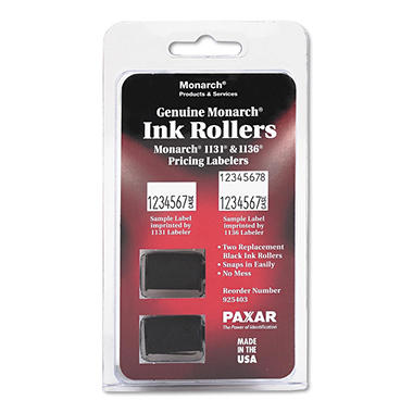 Monarch 1131 / 1136 - Pricemarker Ink Roller, Black - 2 Count