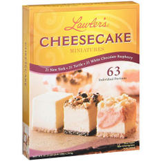 Lawler's® Cheesecake Miniatures Variety  (63 ct.)