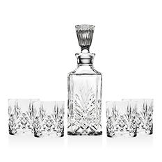 Shannon Crystal 5-Piece Whiskey Set