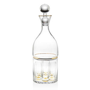 Shannon Crystal 9-Piece Vodka Decanter Set with Shot Glasses