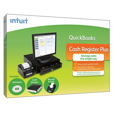 *$199.73 after $60 Tech Savings* QuickBooks Cash Register Plus Software & Hardware