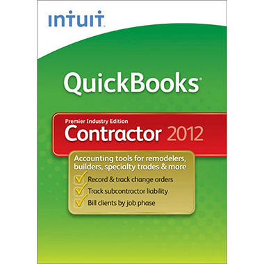 QuickBooks Premier Contractor 2012