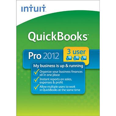 QuickBooks Pro 3-User 2012