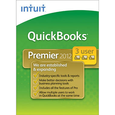 QuickBooks Premier Industry Editions 3-User 2012