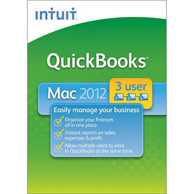 QuickBooks 2012 for Mac 3-User