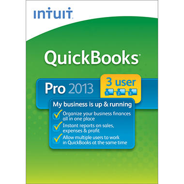 Intuit  QuickBooks Pro 3-User 2013