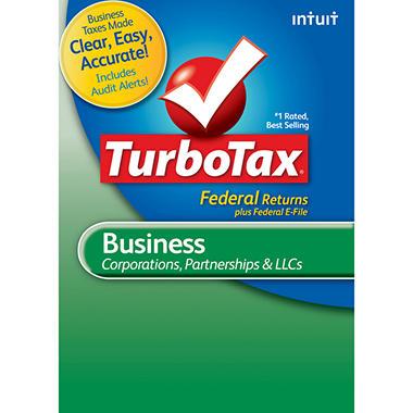TurboTax Business Fed + E-File 2012