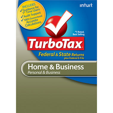 TurboTax Home & Business Fed + E-File + State 2012