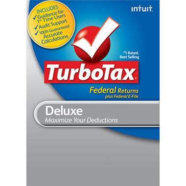 TurboTax Deluxe Fed + E-File 2012