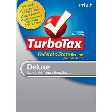 TurboTax Deluxe Fed + Efile + State 2012