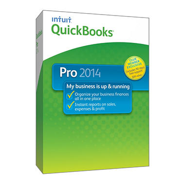 QuickBooks Pro with 90 day Support 2014