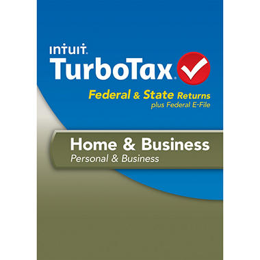TurboTax Home & Business Federal + E-File + State 2013