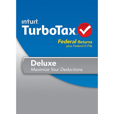 TurboTax Deluxe Federal + E-File 2013