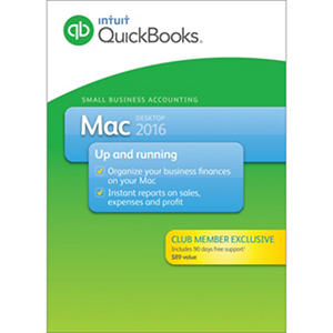 Quickbooks Pro Mac 2016 + 90 Day Support