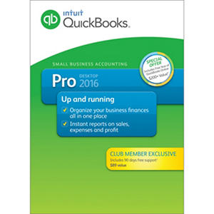 QuickBooks Pro 2016 + 90 Day Support