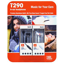 JBL T290 Premium Aluminum 2-pack, In-Ear Headphone with Tangle Free Flat Cord and In-Line 1-Button Remote