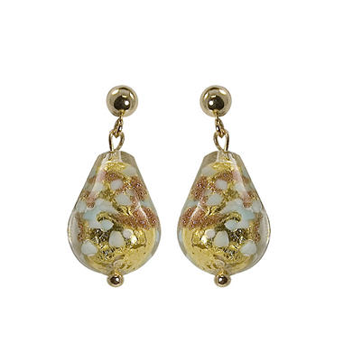 murano glass bead and 14k yellow gold earrings sam s club