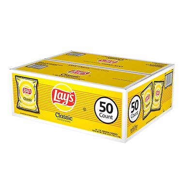 Lay's Classic Potato Chips - 50 ct. - 1 oz. bags
