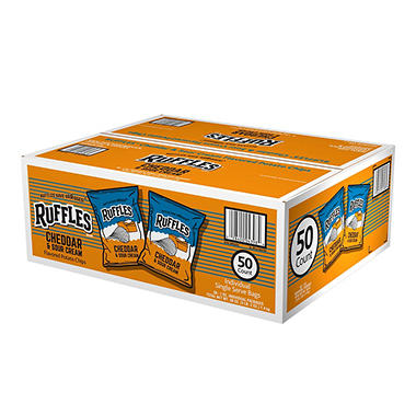 Ruffles Cheddar & Sour Cream Potato Chips 1 oz. (50 ct.)