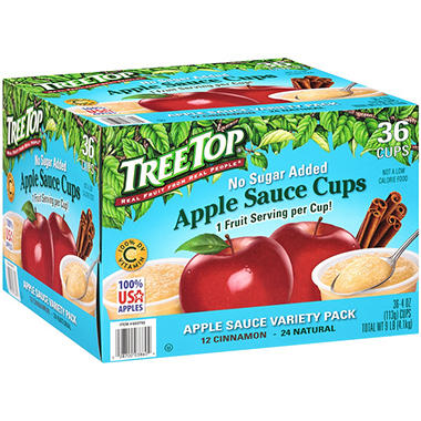 Treetop No Sugar Applesauce Variety Pack - 4 oz. - 36 pk.