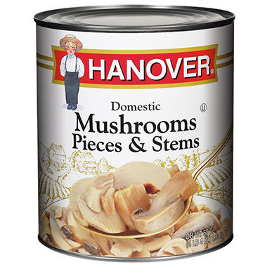 Hanover Mushroom Pieces and Stems - 100 oz.
